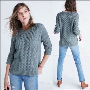 Madewell Classic Cable Jumper Sweater - Size L